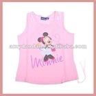 Pink cartoon vest for girls