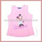 Pink cartoon vest for girls