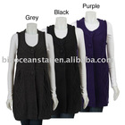 Women's 3 Button Sleeveless female cardigan