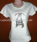women`s t-shirt(digital and image printing ,white)