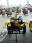 Farm plow tiller with push or electric start row cultivator