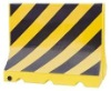 1000*800mm rotational plastic with black and yellow reflective traffic barrier