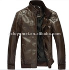men's high quality PU fashion jacket for winter