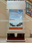 Free-standing Shoe shine machine with 10pcs of rolled advertising paper for light box