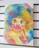 Comical Clown Printed Mini Oil Painting On Canvas