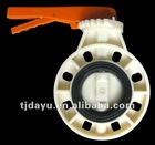 ABS flange connection handle butterfly valves EPDM ISO OEM EXW