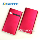 New arrive Portable Hot Red Power bank Mobile Phone chargers 2000mAh small size for outdoor and emergency