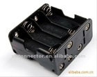 8AA black battery holder in double layer