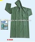 men PVC raincoat/rain coat/rainwear