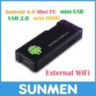 Hdmi dongle mini pc android 4.0 Mini PC MK802 1GB RAM
