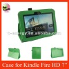 Smart Cover Stand Leather Case For Kindle Fire HD 7'',Free Shipping,Green color