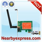 Mini 150Mbps 802.11b/g/n PCI-E 11N PCI Wireless LAN Card with Detachable Antenna
