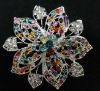 BR097 new design rhinestone brooch and scarf pins