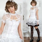 Visual kei fashion cool gothic punk rave lolita tee shirt top female 61109