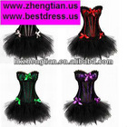 New Fancy Dress Corset Dress Moulin Rouge Burlesque TUTU Lingerie 1298+7008