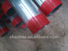 BS1387 galvanized steel pipe with thread and coupling