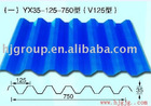 YX35-125-750(V750)corrugated color steel sheet