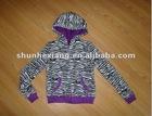 2012 fashion printed jacket with hood