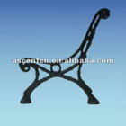 cast iron park bench legs for with back