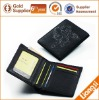 Engraved Logo with Silver Glitter Leather Men's Wallet