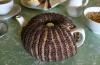 Hand knit tea cosy