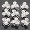 Silver Bridal Hair Twist Pins