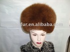 cold-proof fox fur hat