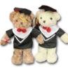 Plush graduation bear,Stuffed graduation bear,Soft bear toy