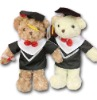 Plush graduation bear,Stuffed graduation bear,Soft bear toy