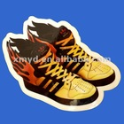 Full Color Printed Die-cut Clear PET Sticker Labels Self-adhesive