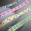 Custom printed polyester grosgrain ribbon
