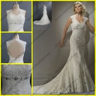 WR-027 New Style Bare Back Wedding Dress Beading With Keyhole Back