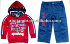 Stock Boy's 2pcs hoodies sport suit on sell,top and trousers