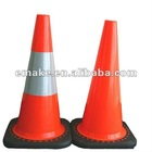 SOFT BLACK RUBBER BASE PVC CONE