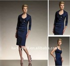 Hot sale Sexy Jacket Knee-Length Blue Suits dress