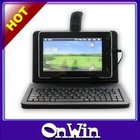 "Universal 7'/10"" leather case with keyboard for tablet pc"