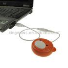 Orange Mini Rechargeable Audio Speaker 3.5mm Audio Plug w/ USB For Phones/Laptop