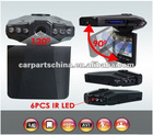 2.5 inch 120degrees 6 IR LED 270 whirl portable car dvr camera