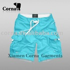 men light blue outdoor microfiber peach shorts