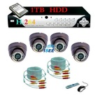 540TVL security camera 4 CH CCTV DVR System 1TB