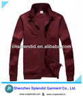 export factory cotton fleece mens custom coat without hood