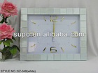 famous style mirrored glass wall clock,art wall clock