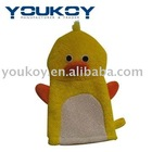 Duck exfoliate bath body scrubber gloves (GS0002)