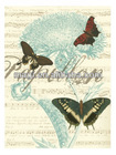Antique Canvas Butterfly Painting for Wall Decor