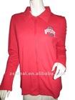 Ladies' cotton french terry rhinestone/embroidery YKK zipper-up sweatshirts
