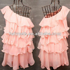 Chiffon Ruffled Evening Dress For Girls