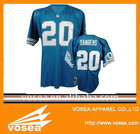 Customized American football jersey