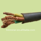 low voltage flexible copper conductor PVC insulated rubber sheathed cable