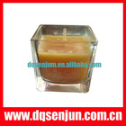 jar candle with color box ,gift scenetd candle,glass candle