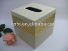 Luxury Palace PU leather Popular Car napkin/Tissue Box with flower pattern